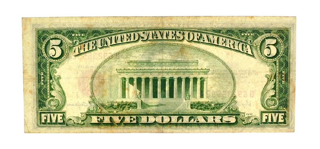 Rare 1953 $5 Red Seal United States Note - 2