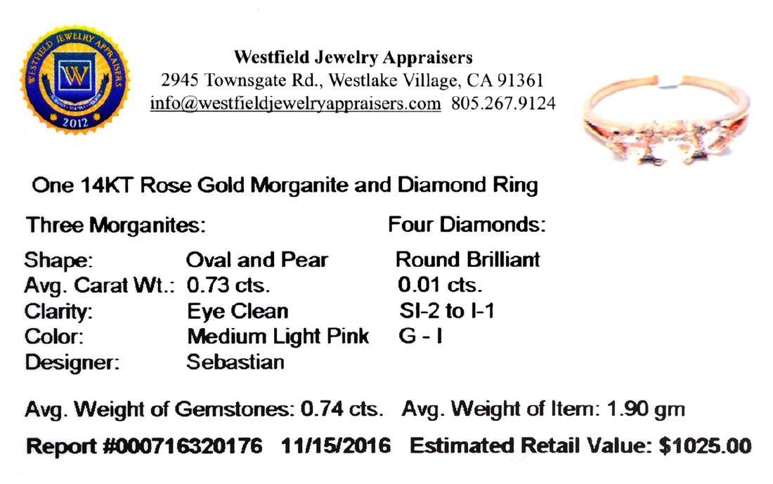 APP: 1k Fine Jewelry, Designer Sebastian 14KT Rose - 2