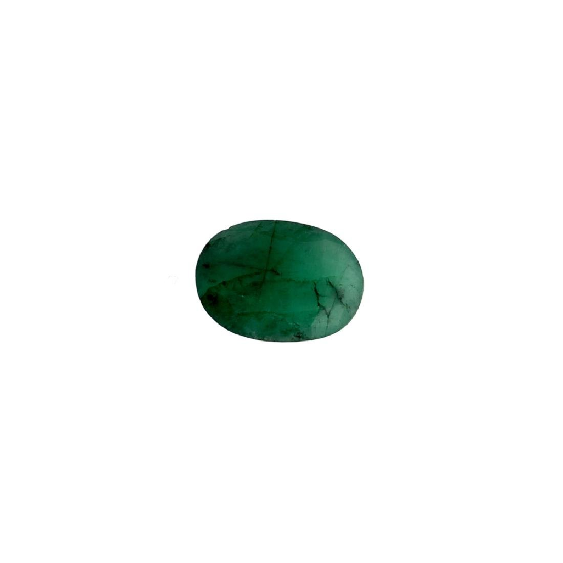 APP: 3.6k 4.71CT Oval Cut Green Emerald Gemstone