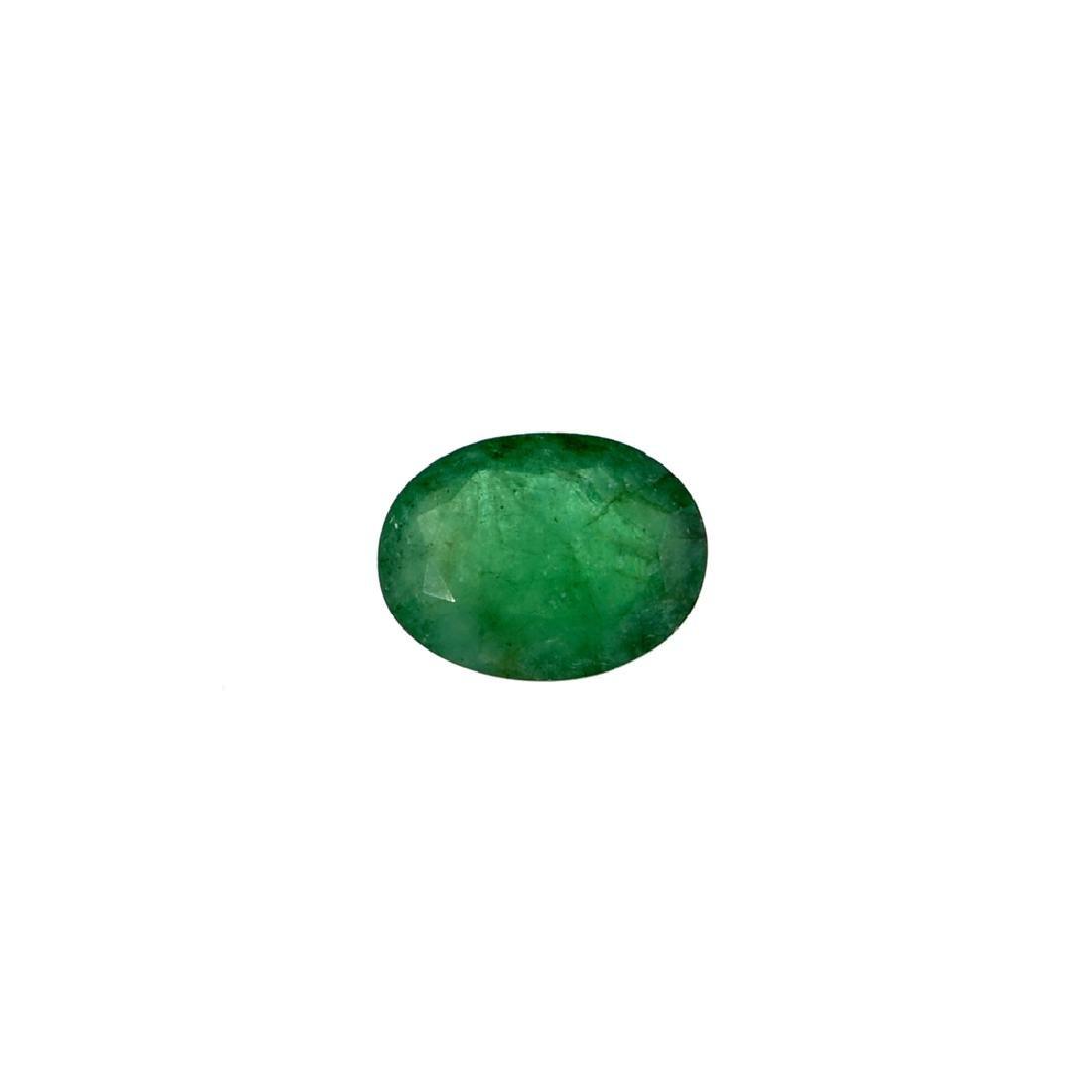 APP: 6.3k 4.18CT Oval Cut Green Emerald Gemstone