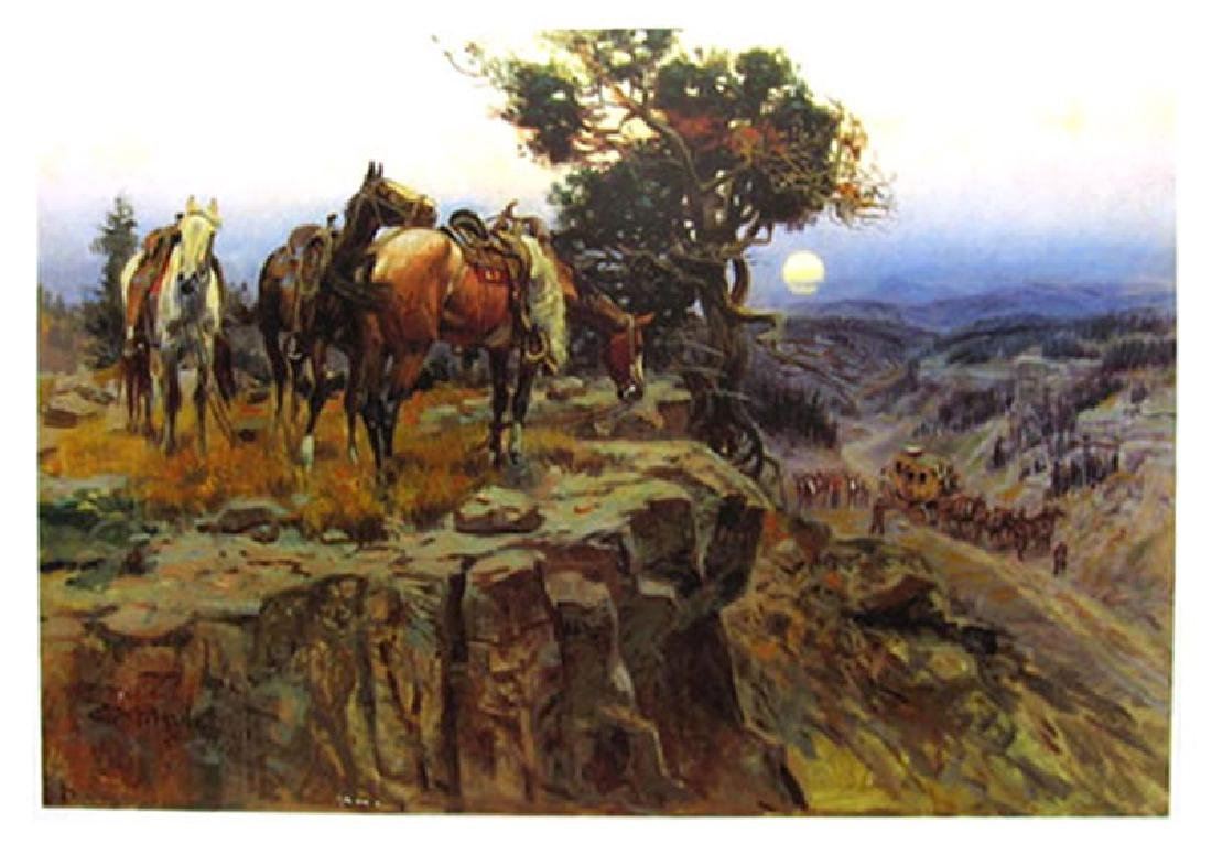 CHARLES M. RUSSELL (After) An Unscheduled Stop Print,