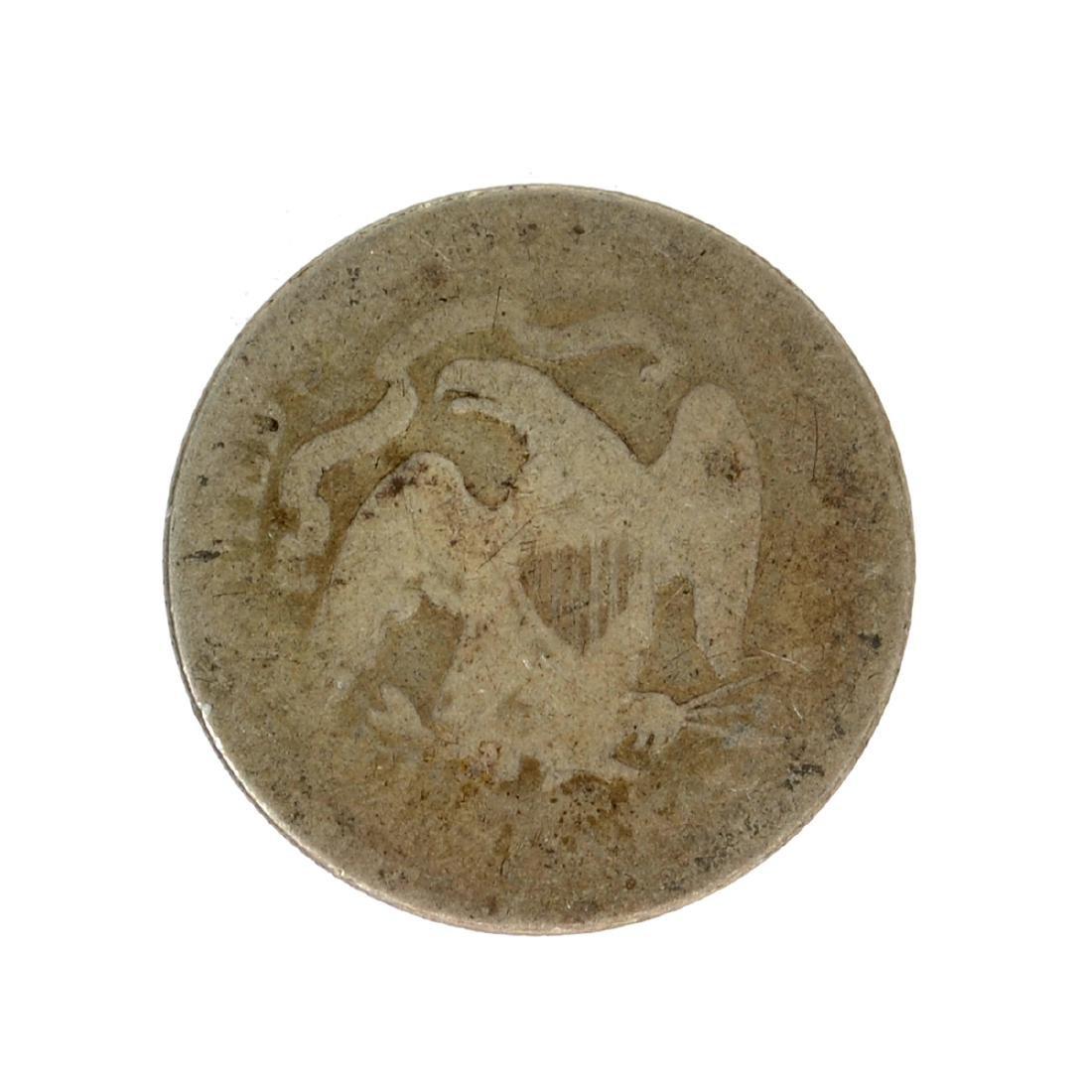 1875 Liberty Seated Quarter Dollar Coin - 2