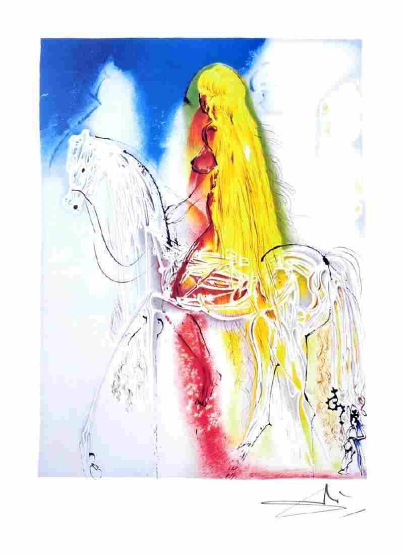SALVADOR DALI (After) Lady Godiva Print, I78 of 500