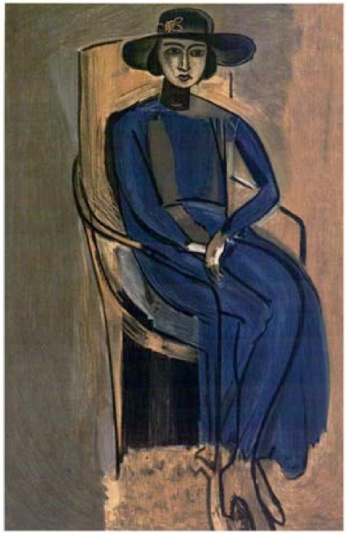 Henri Matisse ''''107 Mme Greta, Prozor'''' 12 x 17