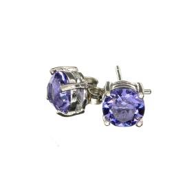 Silver Tone Swarovski Ements Earrings