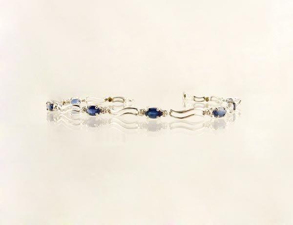 3346: 14 kt. White Gold, Sapphire and Diamond Bracelet,