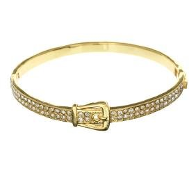 18kt Gold Plated And Swarovski Elements Bracelet