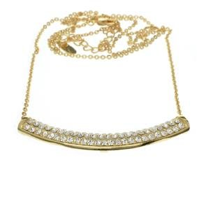 Sevil Designs Gold And Swarovski Elements Curve