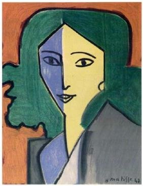 Henri Matisse ''''147 Mme L.d. Portrait In Green, Blue,
