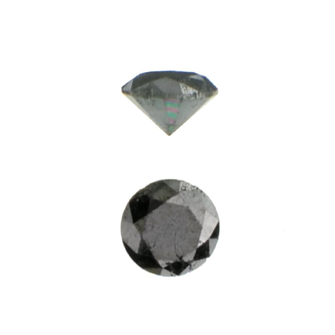 APP: 0.3k 0.41CT Round Cut Black Diamond Gemstone