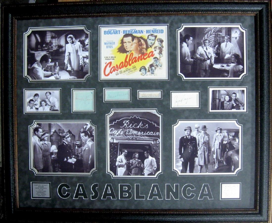 Engraved Authentic Casablanca Movie Collage