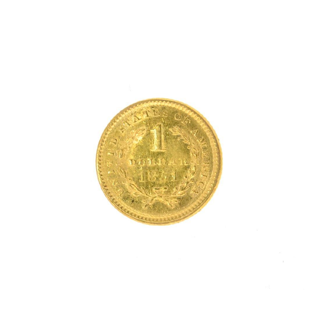 *1851 $1 U.S. Liberty Head Gold Coin (JG N) - 2