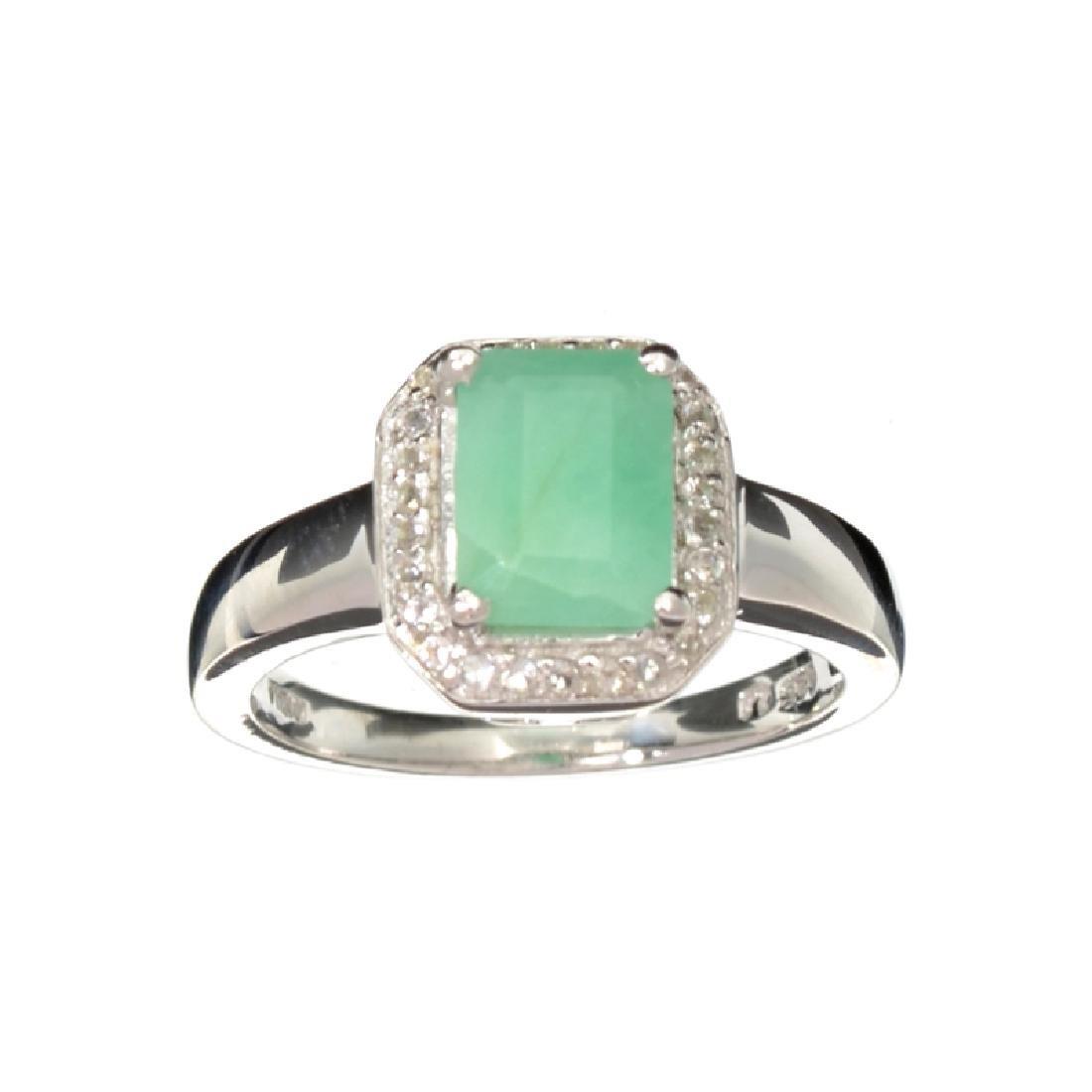 APP: 0.8k Fine Jewelry 1.73CT Green Emerald And White