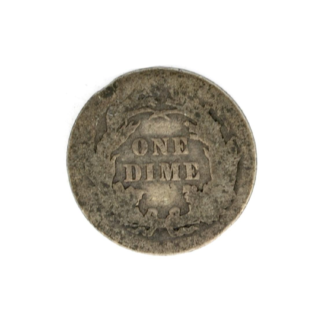 1891 Liberty Seated Dime Coin - 2