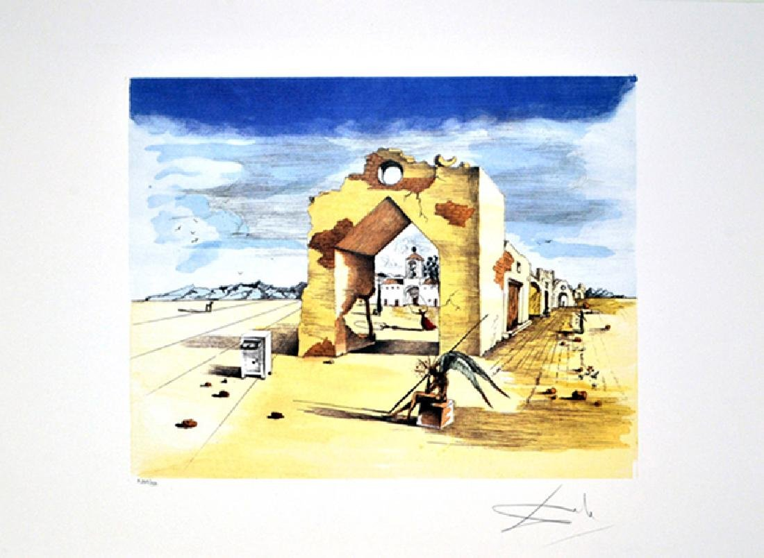 SALVADOR DALI (After) Paranoic Village Print, I357 of