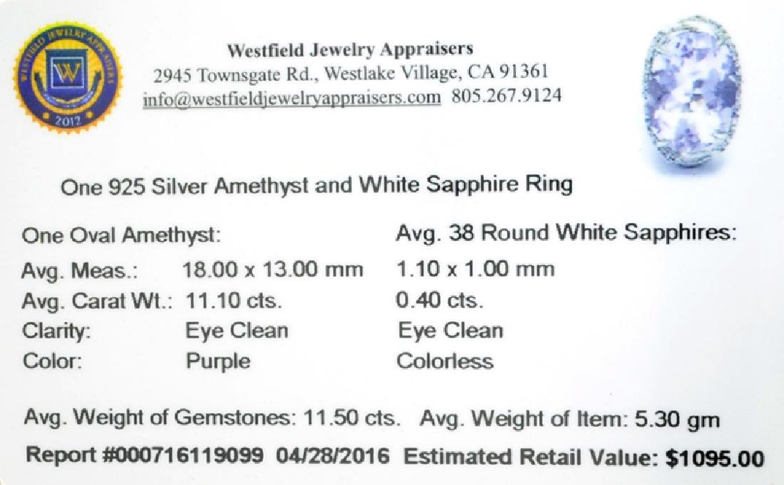 APP: 1.1k Fine Jewelry 11.50CT Purple Amethyst And - 2