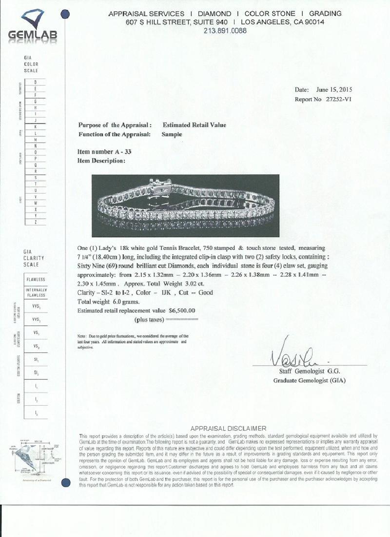 APP: 6.5k *Fine Jewelry 18 kt. White Gold, Custom Made - 2