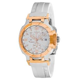*Tissot Women's T-race Stainless Steel Case, Silicone