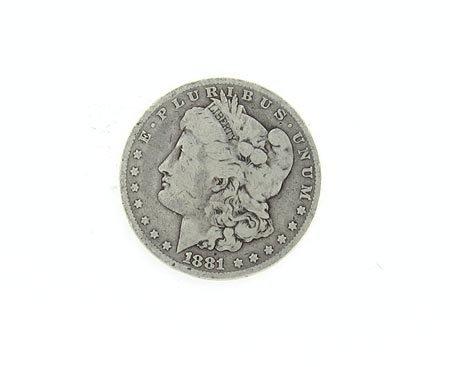 16: GOV: 1881 Morgan Silver Dollar Coin, COLLECTABLE!!