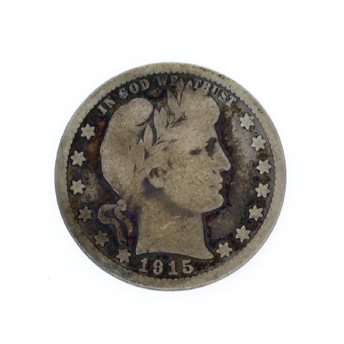Rare 1915 Barber Quarter Dollar Coin