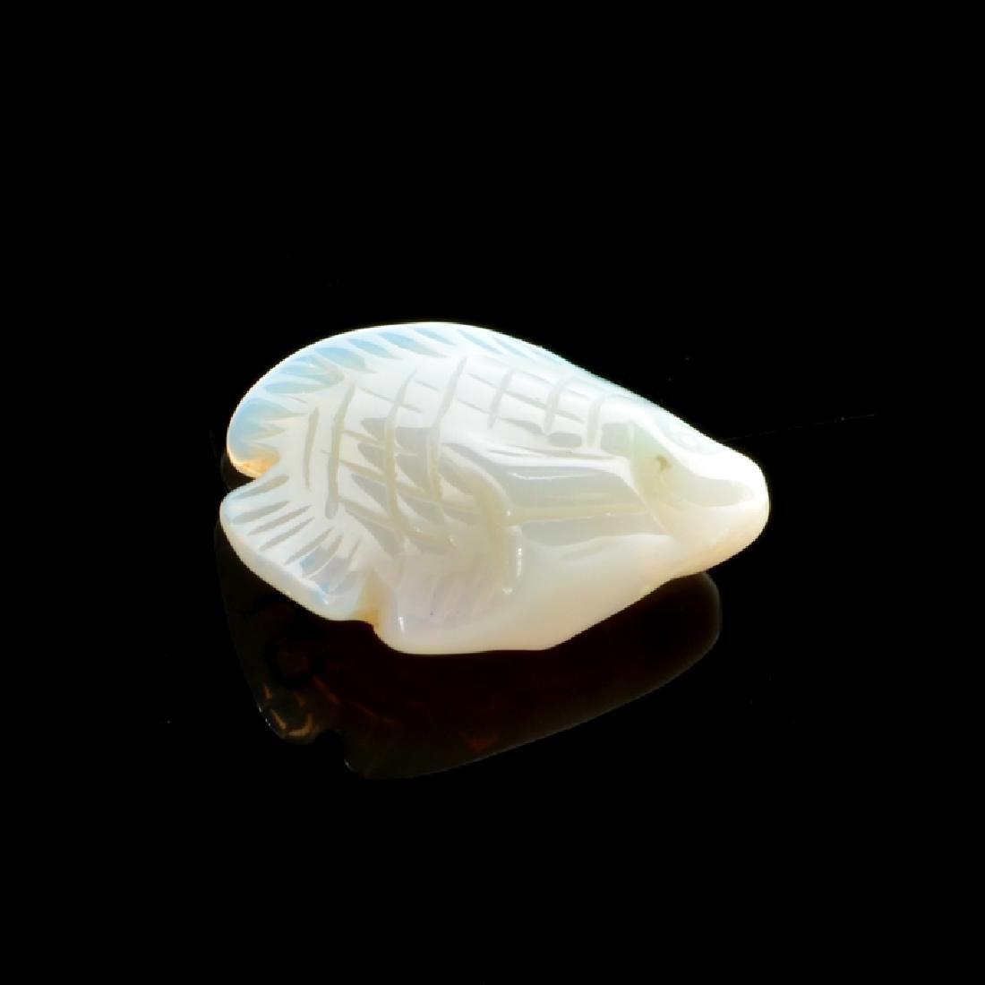 5.80CT Very Rare Australian Fire Opal Carved Gemstone