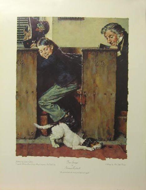 411: ROCKWELL Litho - Tom Sawyer - He Spied The Beetle,