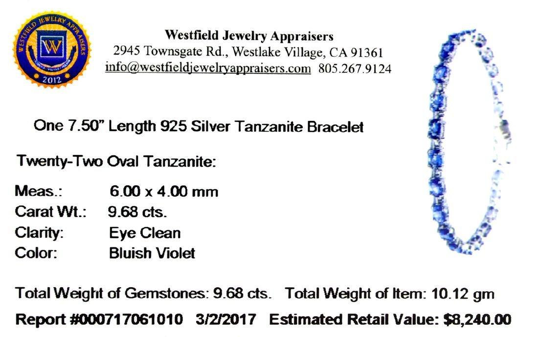 APP: 8.2k Fine Jewelry 9.68CT Oval Cut Tanzanite And - 2