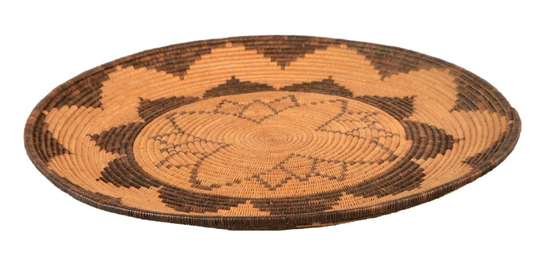 Extremely Rare 1900-1910 Woven Apache Tray Basket -PNR-