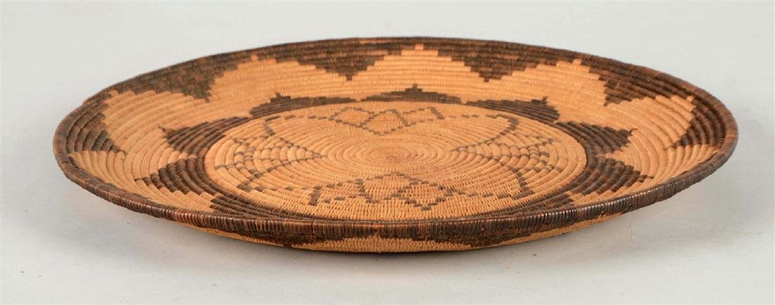 Extremely Rare 1900-1910 Woven Apache Tray Basket -PNR- - 2