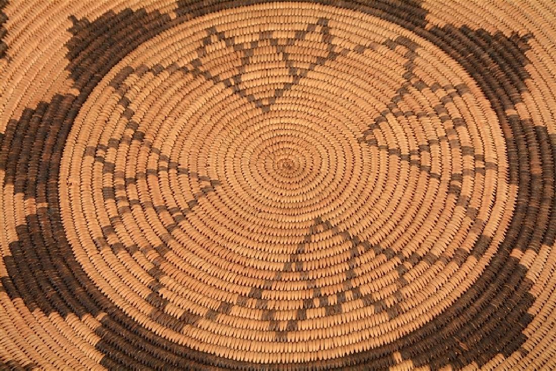 Extremely Rare 1900-1910 Woven Apache Tray Basket -PNR- - 3