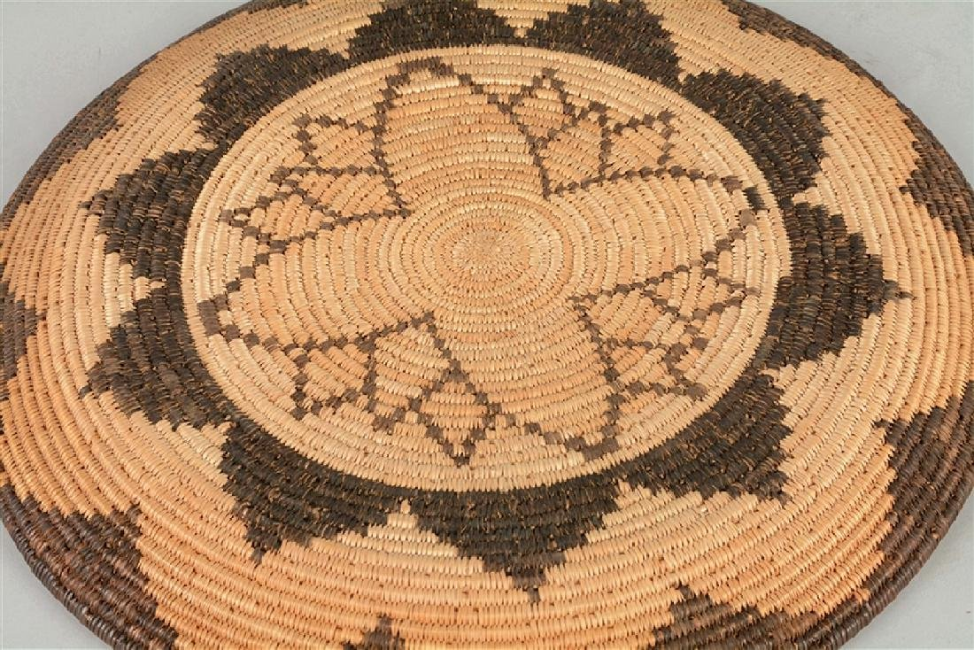 Extremely Rare 1900-1910 Woven Apache Tray Basket -PNR- - 5