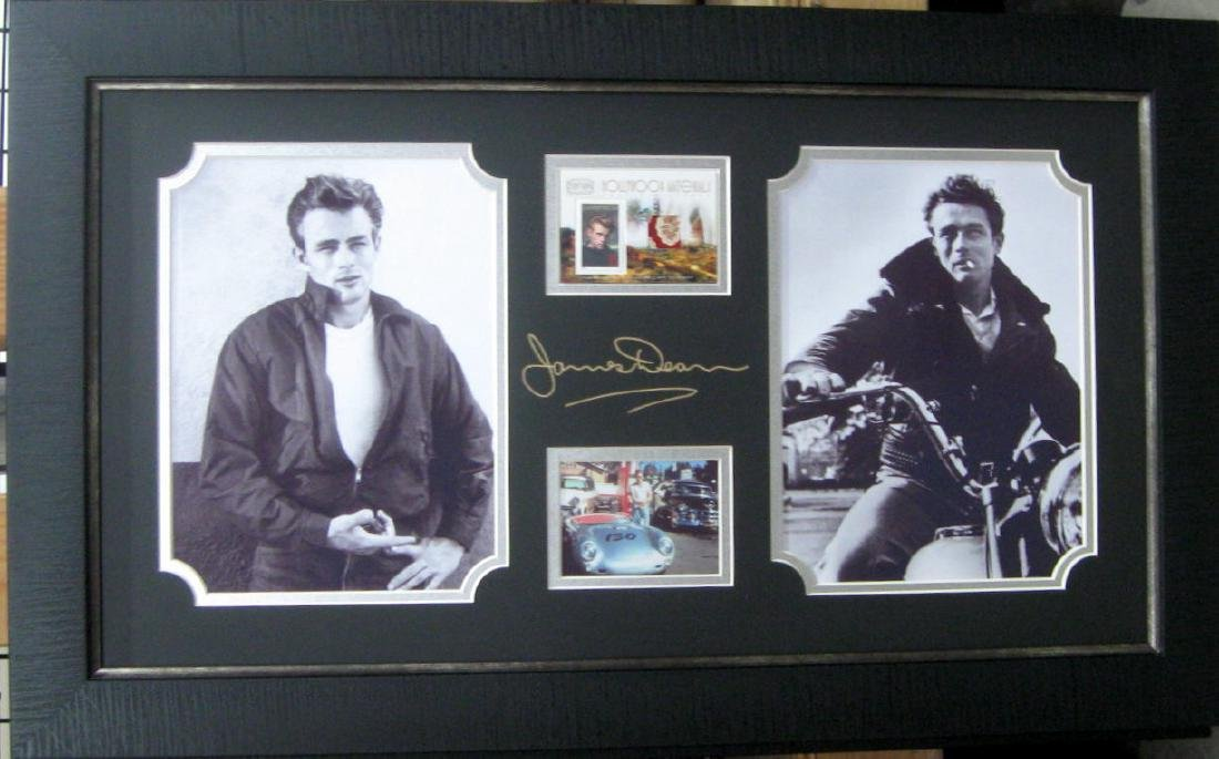Engraved James Dean Signature With Real Swatch of