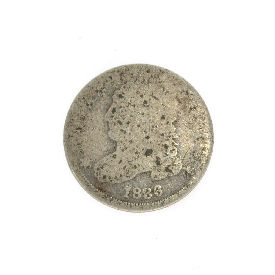 Rare 1836 Capped Bust Dime Coin