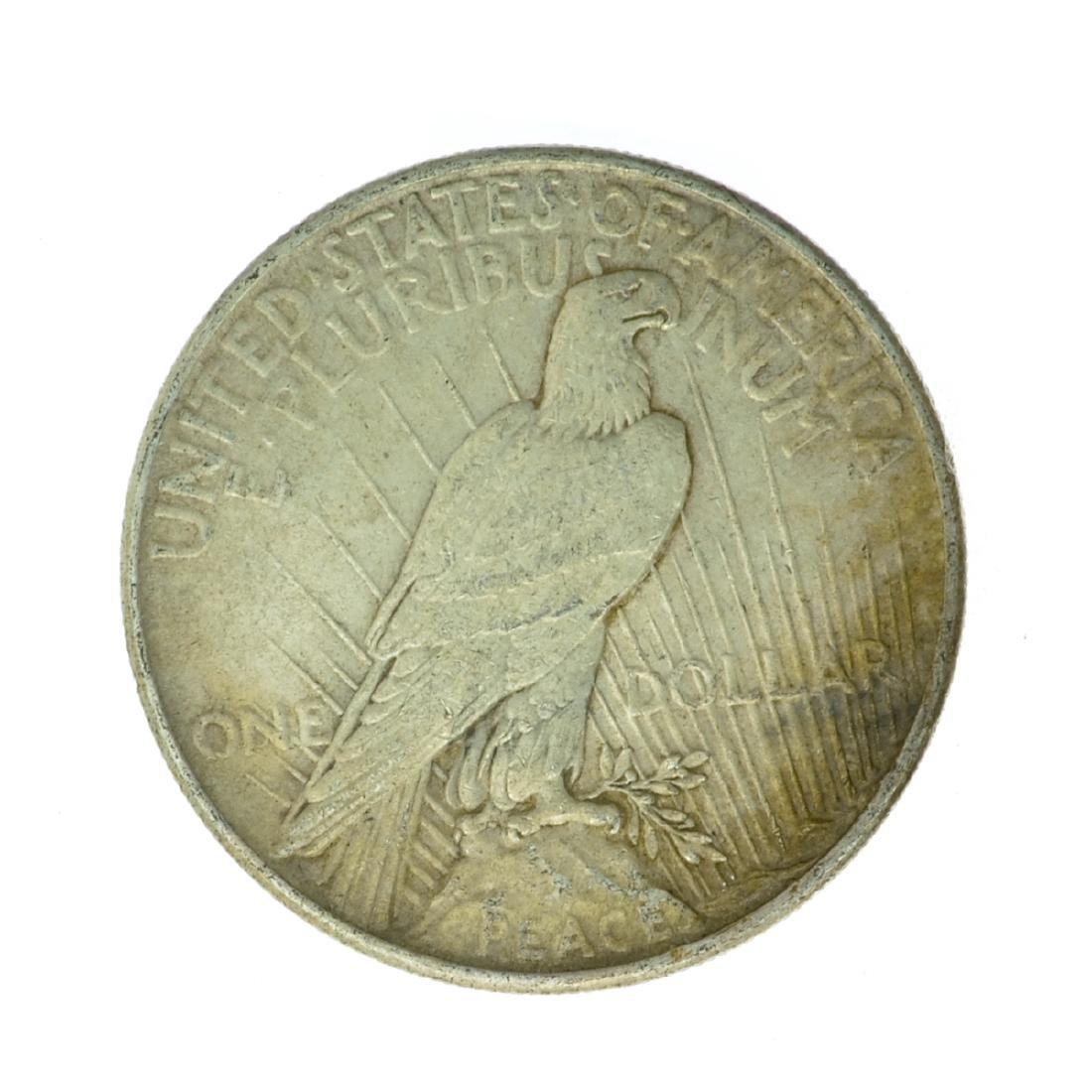 1924 Peace Silver Dollar Coin - 2