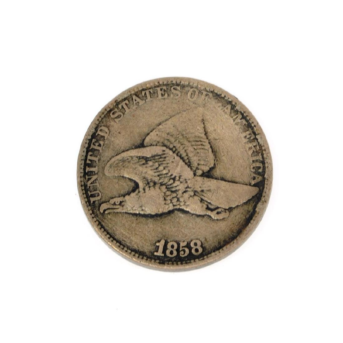 Rare 1858 Flying Eagle One Cent Coin