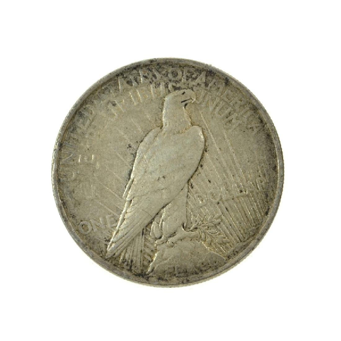 1923 Peace Silver Dollar Coin - 2