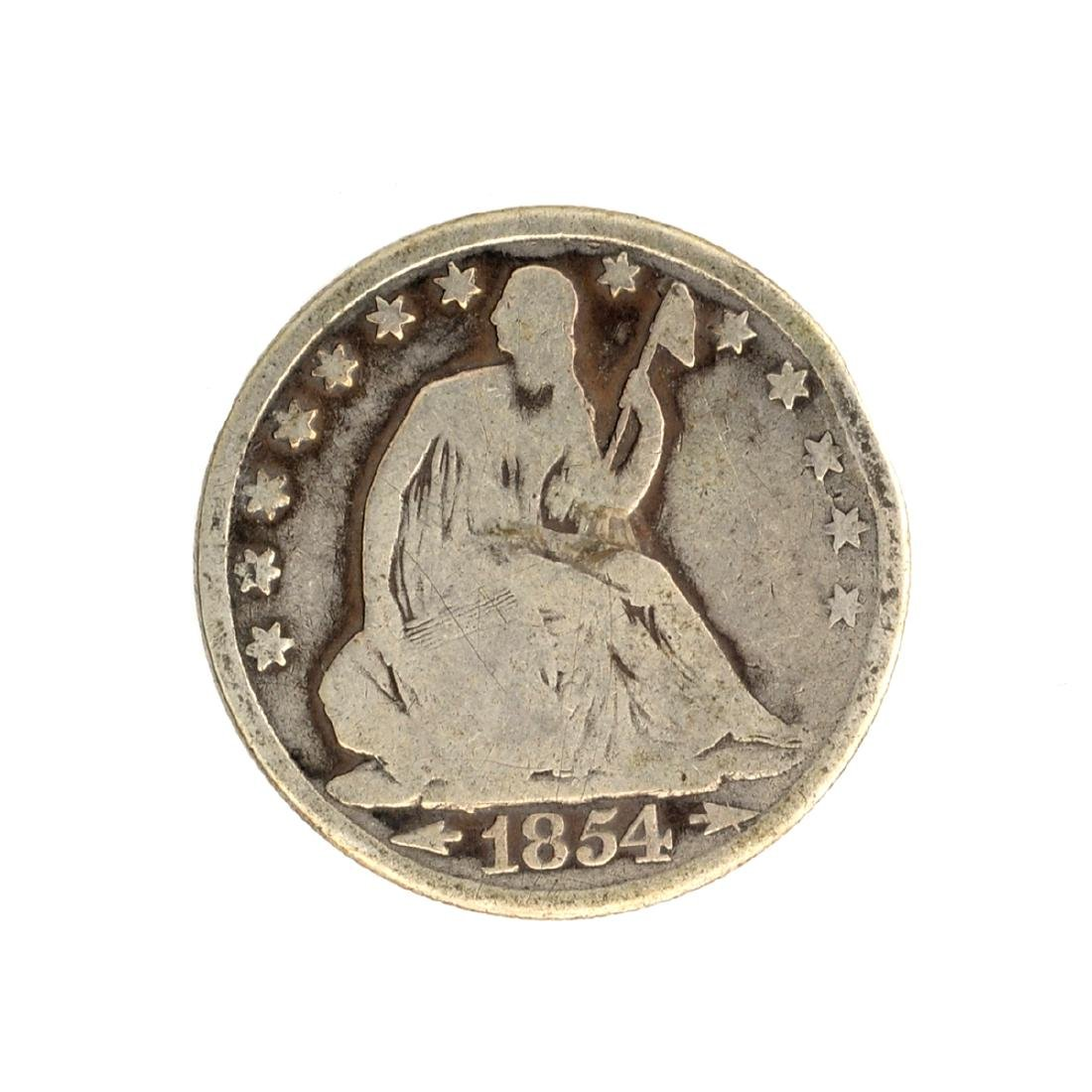 1854-O Liberty Seated Arrows At Date Half Dollar Coin