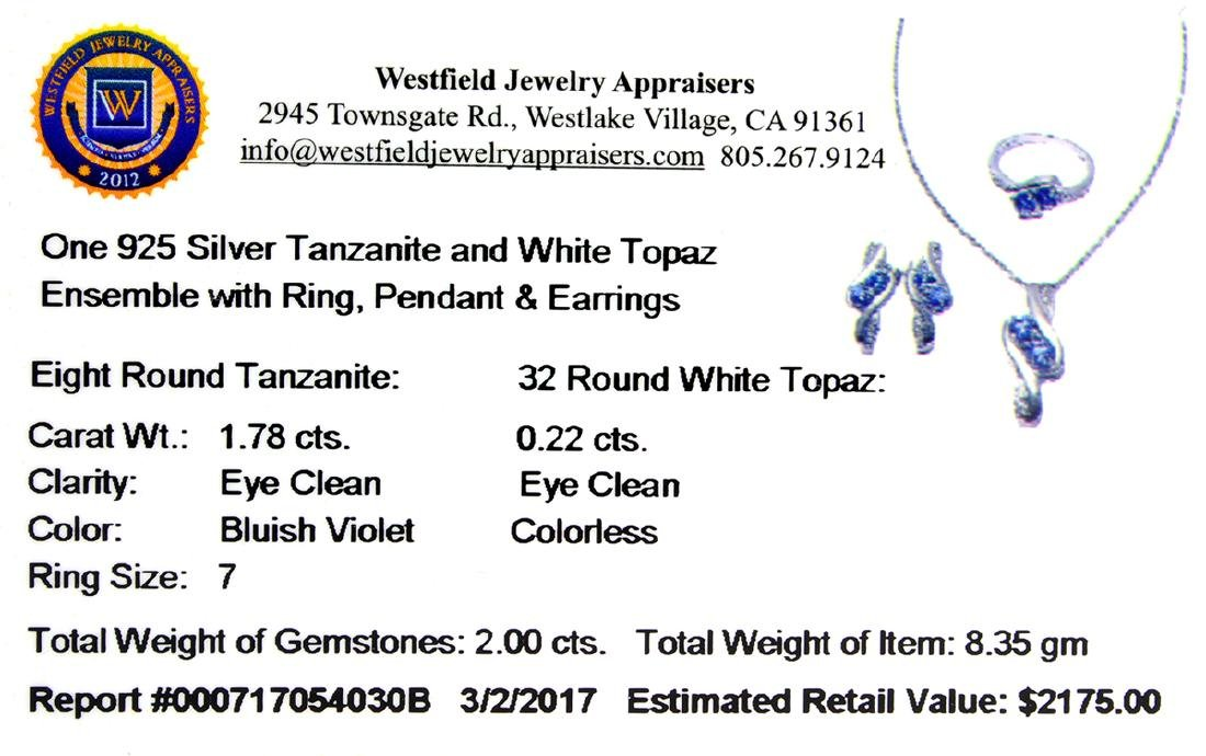 APP: 2.2k Fine Jewelry 2.00CT Round Cut Tanzanite And - 2