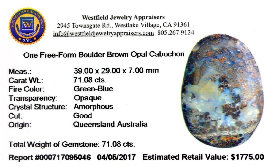 APP: 1.8k 71.08CT Free Form Cabochon Boulder Opal - 2