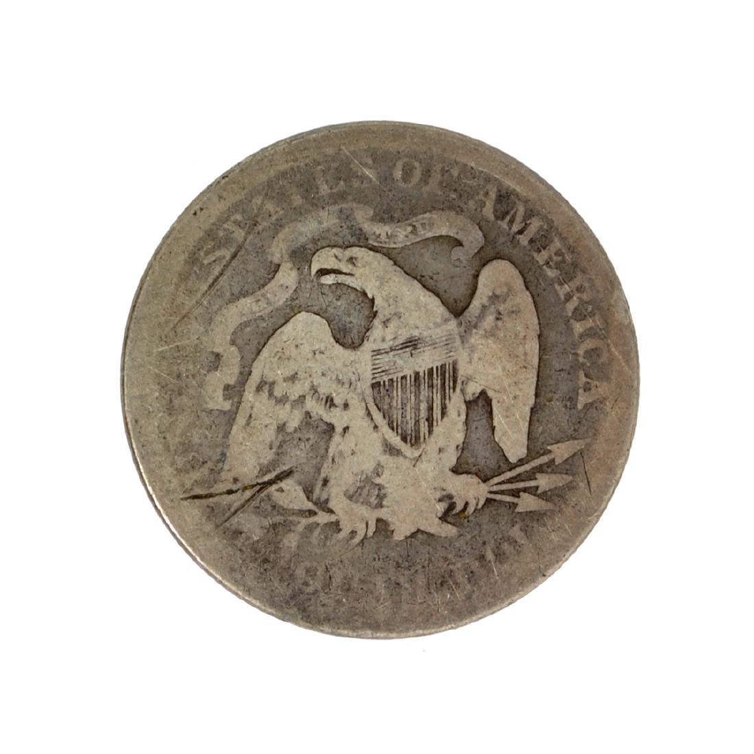 1876 Liberty Seated Quarter Dollar Coin - 2