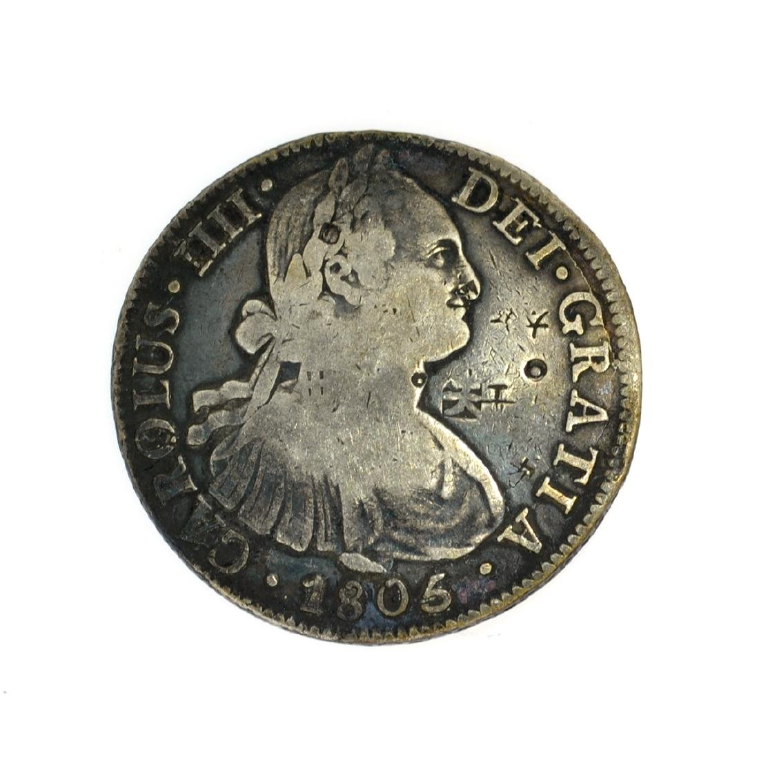 1805 Eigth Reales American First Silver Dollar Coin