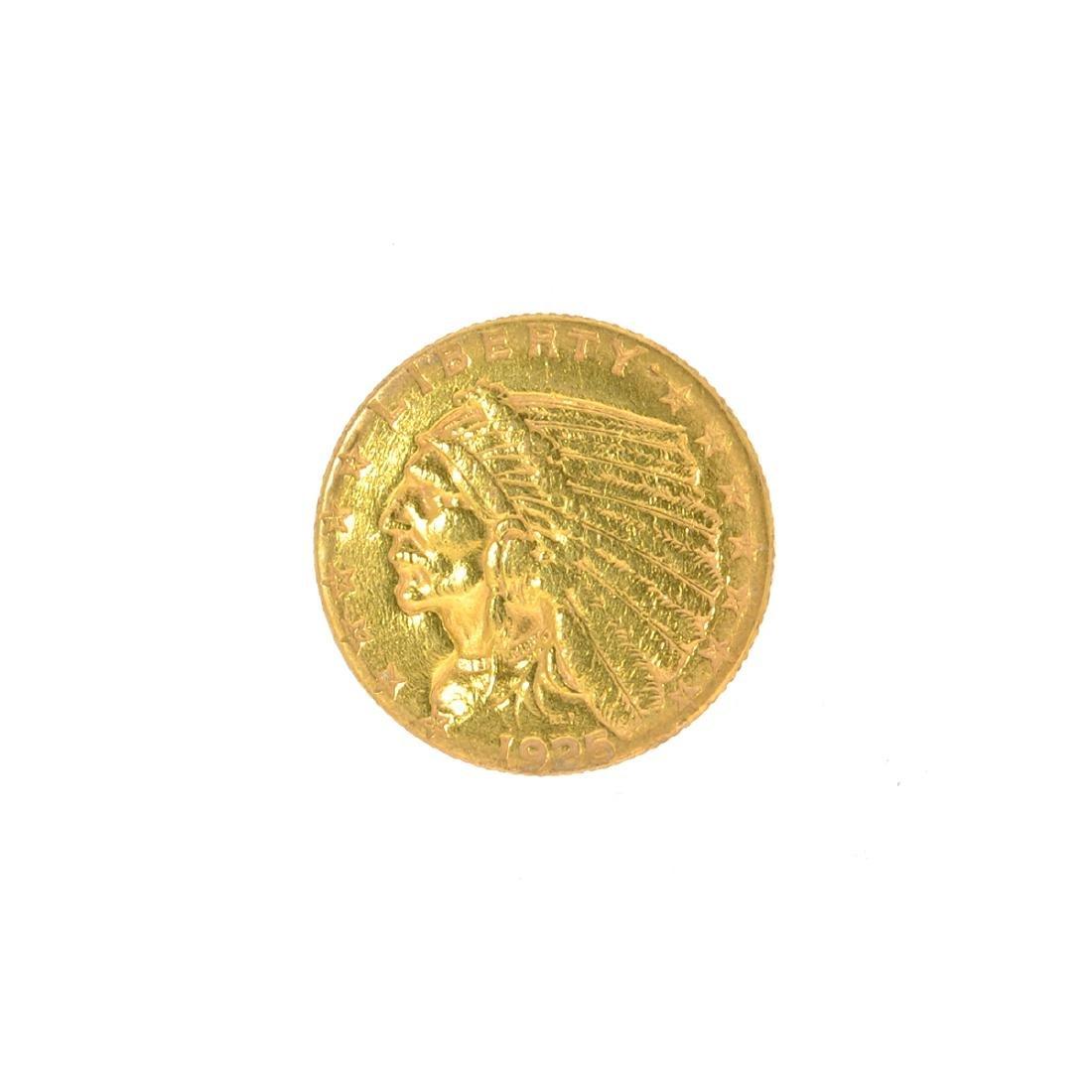 *1925-D $2.50 U.S. Indian Head Gold Coin (JG N)