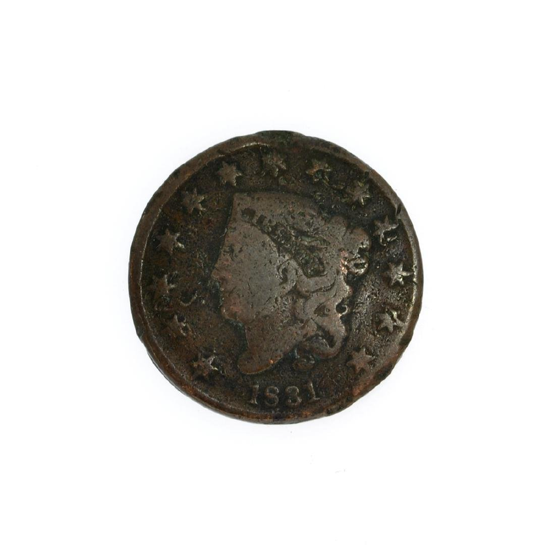 Rare 1831 Large Cent Coin