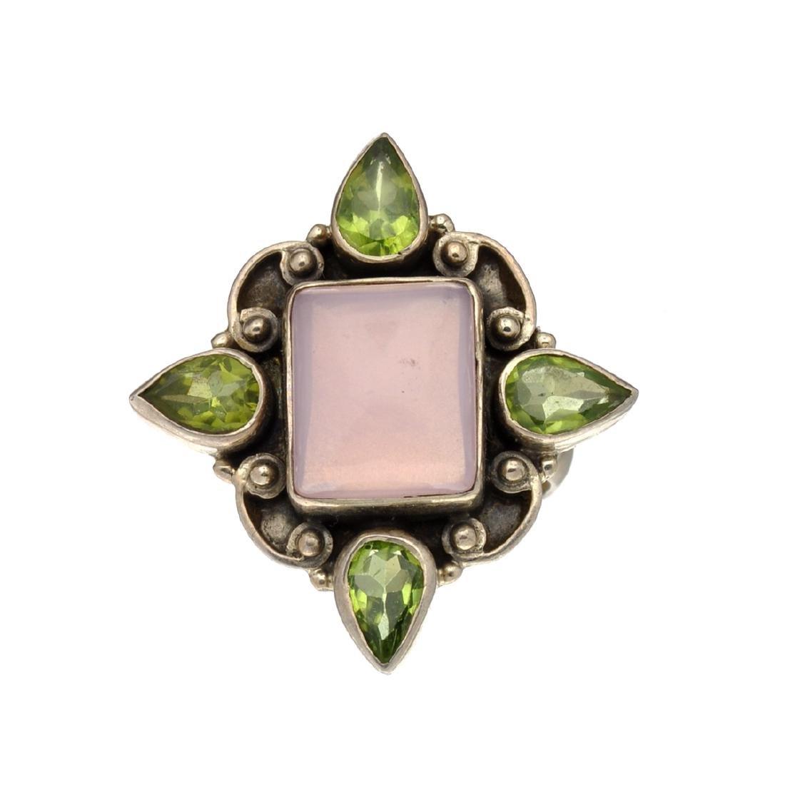 Rare Designer Sebastian Vintage, Peridot And Opal