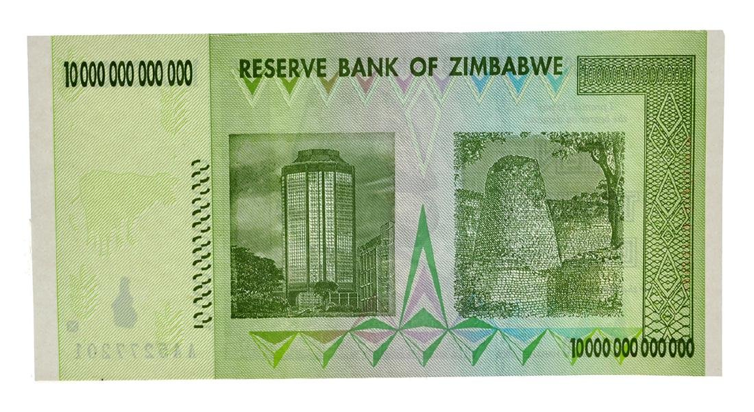 10 Trillion Dollar Zimbabwe Note - 2