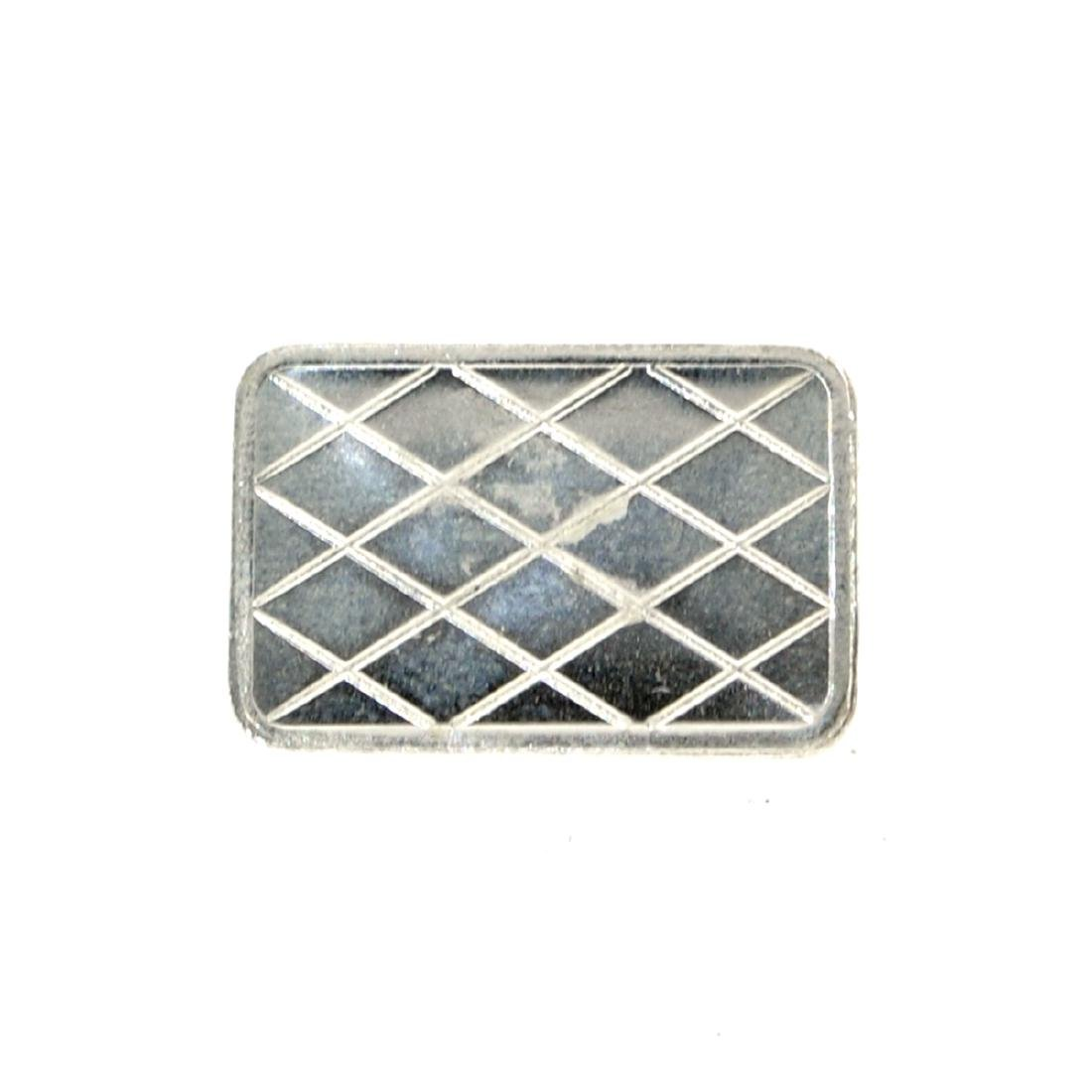 1 Gram Tank Design .999 Fine Silver Bar - 2