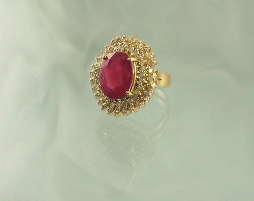 806: APP.: $85.8K, 10.33CT Ruby and 1.19CT Diamond Ring