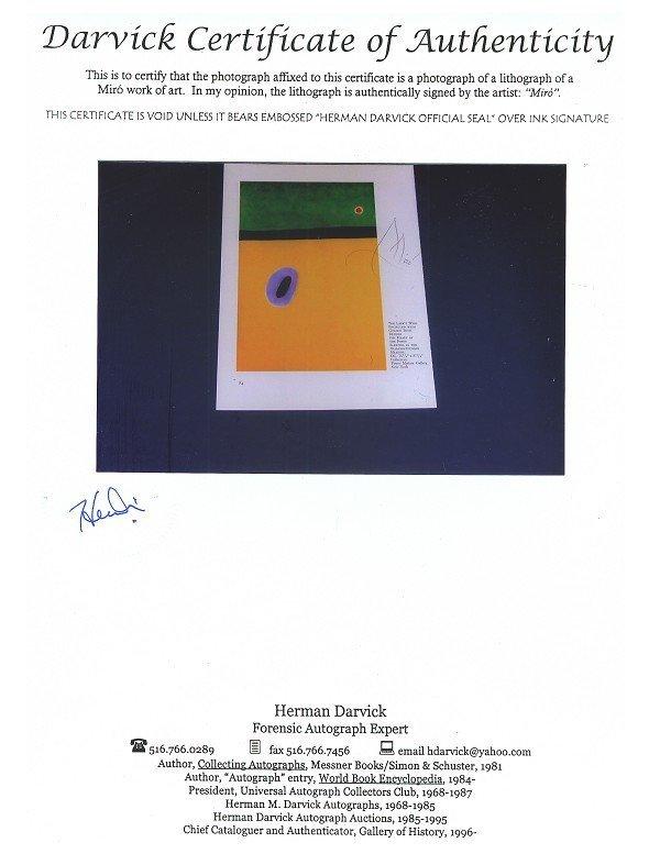 816: N.R.! GOV: Miro, Hand Signed Book Photo - The Lark