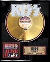818: KISS ''Alive II'' Gold LP
