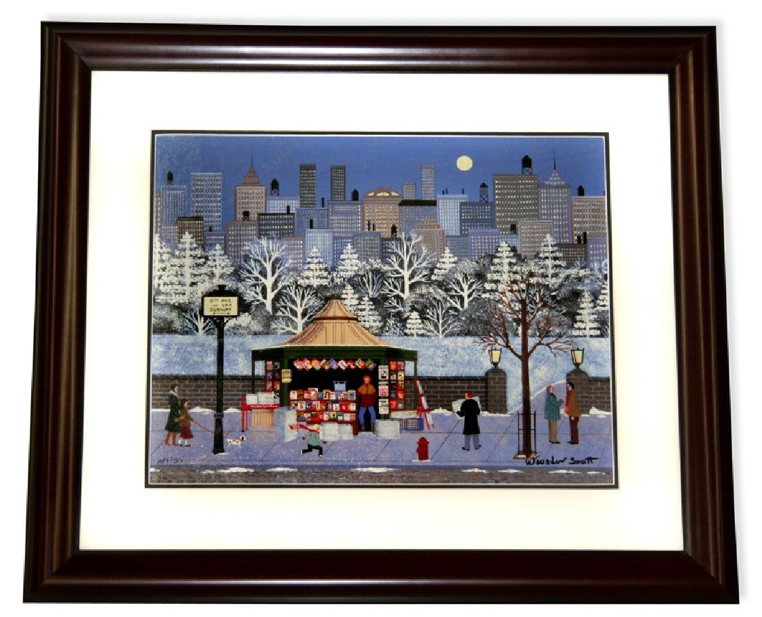 Wooster Scott- Framed Lithograph-Signature ''8th Ave''